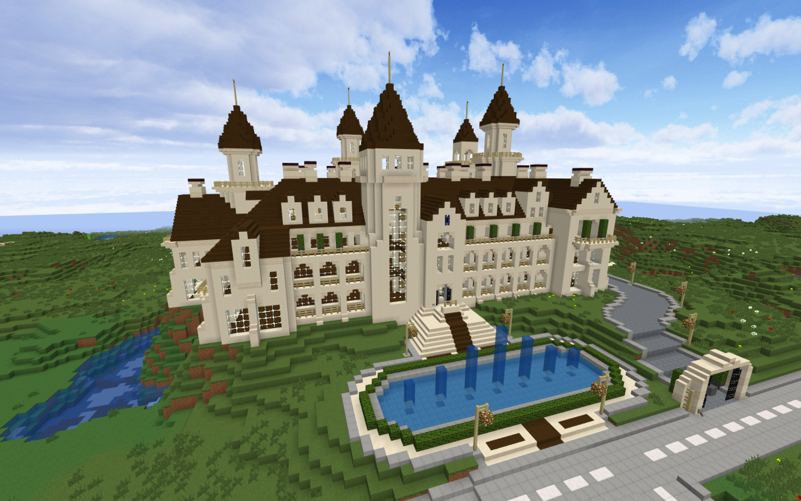 Castle in minecraft