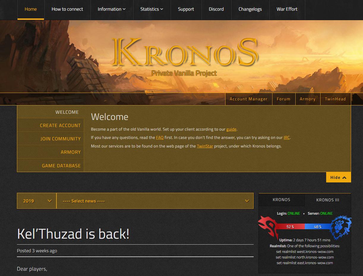 Your Gaming Dude • Vanilla Kronos wow server