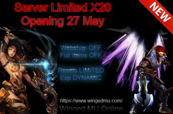 Winged MU server| S9 | Dynamic x250 - NO FO, NO MAX | Limited x20 - NO WEBSHOP